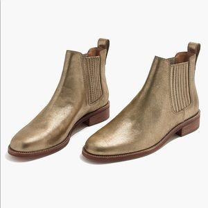 Madewell Ainsley Gold Metallic Leather Bootie 9